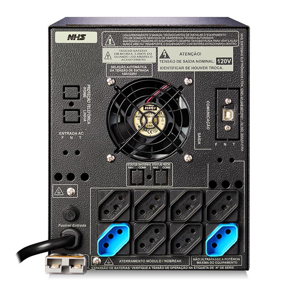 Nobreak NHS Senoidal Premium PDV GII 2200VA 1452W C/2 Bat. Sel.17/18ah/s.120V Cor Preta