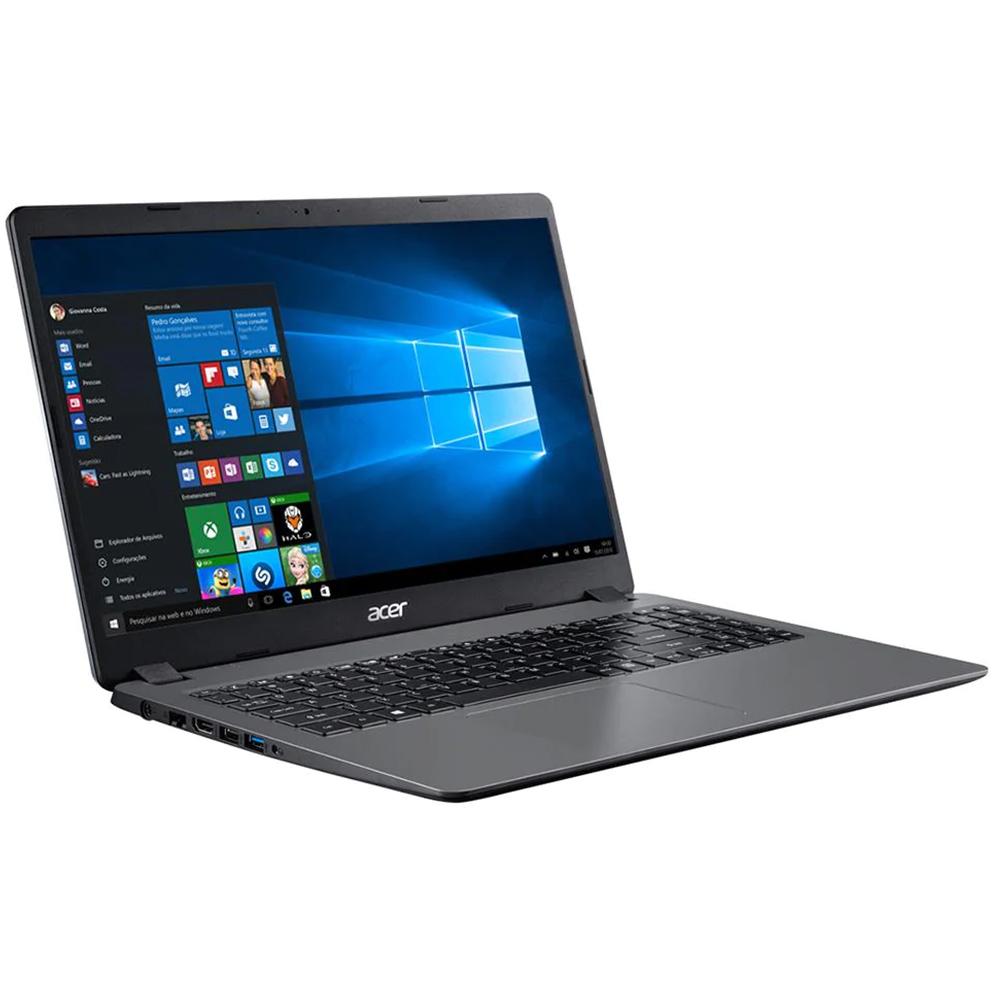 "Notebook Acer A315 Core I3 1005g1 Memoria 4gb Ssd 240gb Tela Hd 15.6"" Sistema Windows 10 Home"