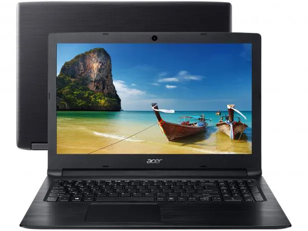 "Notebook Acer A315 Core I3 8130u Memoria 16gb Hd 1tb Ssd 120gb Tela 15.6"" Sistema Windows 10 Pro"