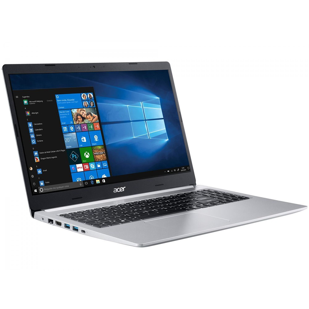 Notebook Acer A515 Core I7 8565U Memoria 8Gb Hd 1Tb Video 2Gb Tela 15.6' Win 10 Home