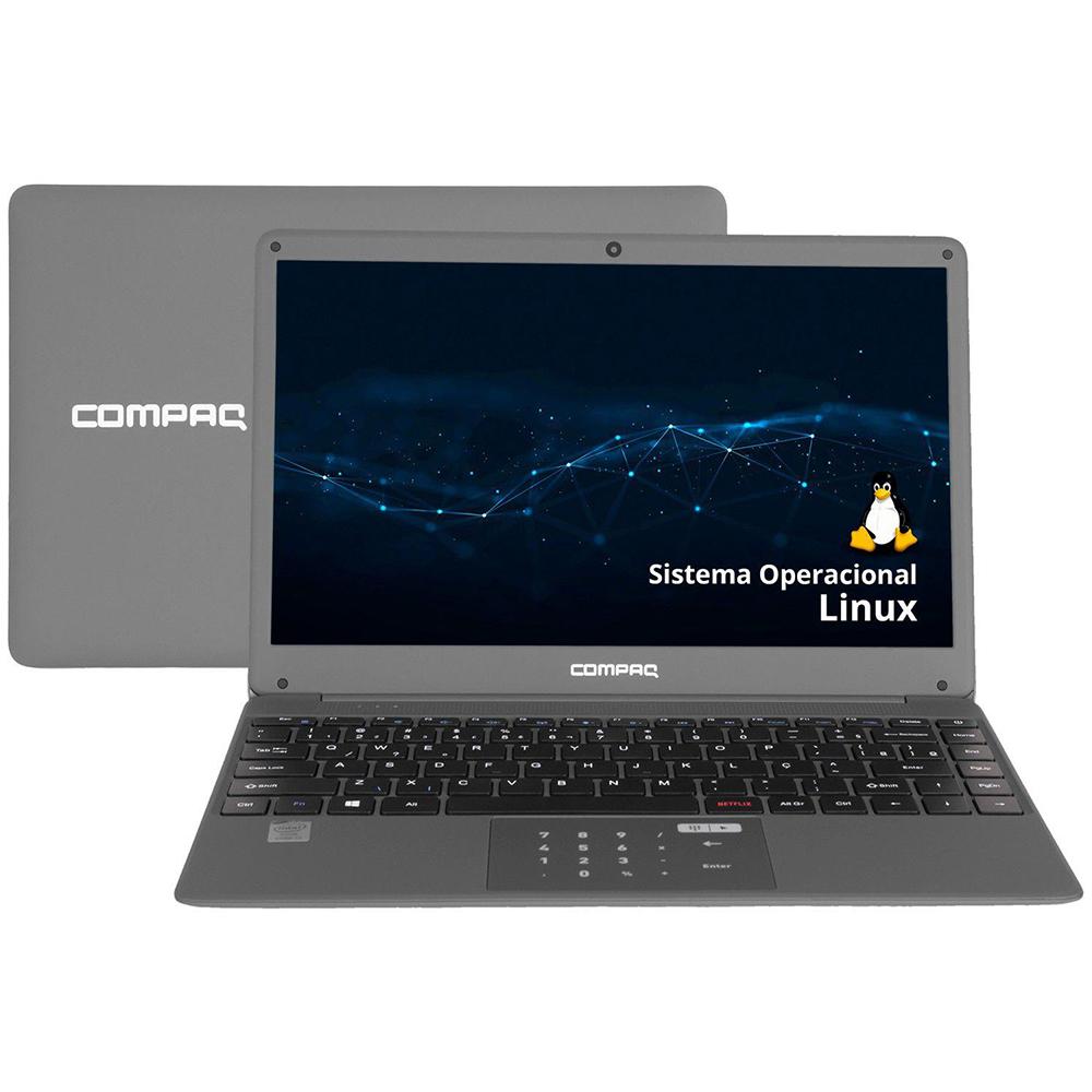 "Notebook Compaq Presario Cq-27 Intel Core I3-5005u Memória 4gb Ssd 240gb Tela 14,1"" Led Ips Hd Linux Keep Os"