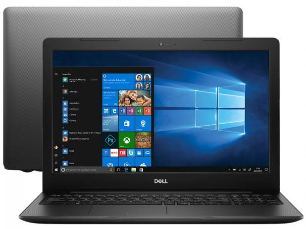 Notebook Dell Inspiron 3000 Core I7 8565U Memoria 8Gb Hd 2Tb Placa Video Radeon 520 2Gb Tela 15.6' Led Hd Win 10 Home