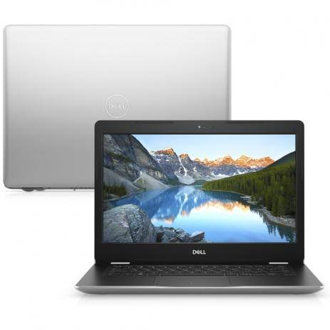Notebook Dell Vostro 3481 Core I3 7020U Memoria 4Gb Ssd 120Gb Tela 14' Led Hd Windows 10 Pro