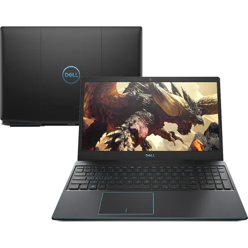 Notebook Gamer Dell G3 3590 Core I7 9750h Memoria 8gb Hd 1tb Ssd 128gb Gtx 1660 Ti 6gb Tela 15.6' Fhd Preto Win 10 Home