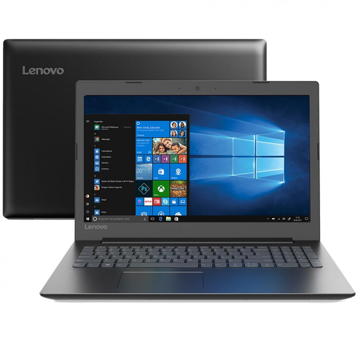 Notebook Lenovo B330 Core I5 8250u Memoria 4gb Ddr4 Ssd 120gb Tela 15.6' Fhd Windows 10 Home