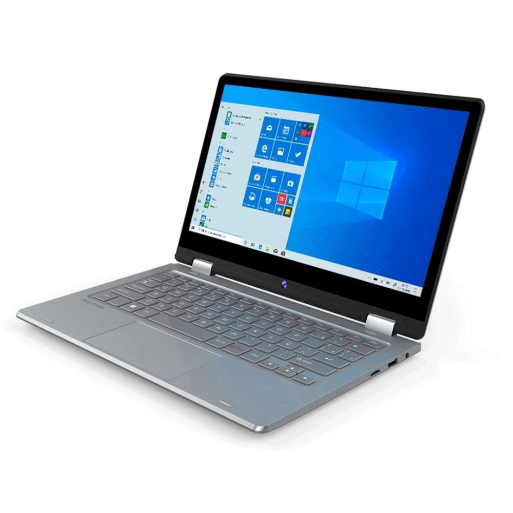 "Notebook Positivo Duo C464ap Intel Celeron Dual Core Memória 4gb Lpddr4 Hd 64gb Tela 12"" Touch Fhd Led Windows 10 Pro"