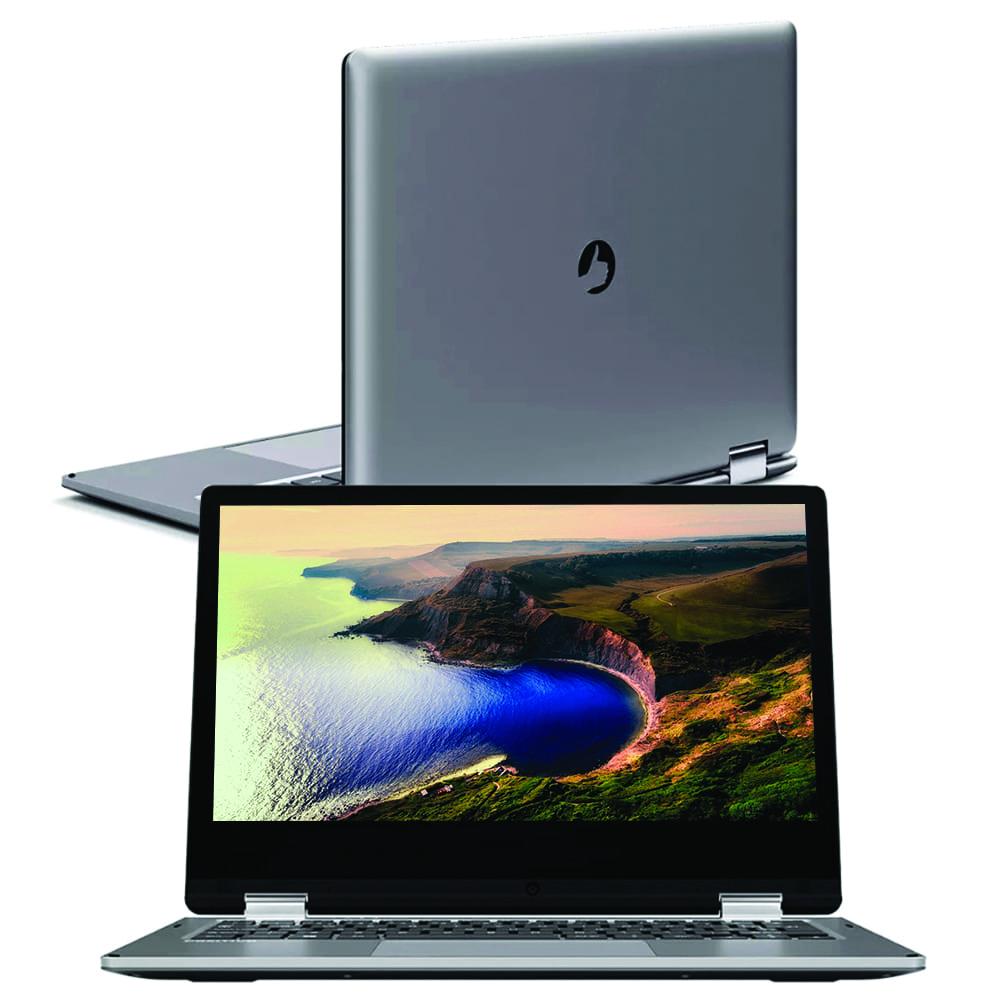 "Notebook Positivo Duo Q 432bp Intel Atom Quad-core Memória 4gb Ddr3 Hd 32gb Tela 11,6"" Touch Hd Led Windows 10 Pro"