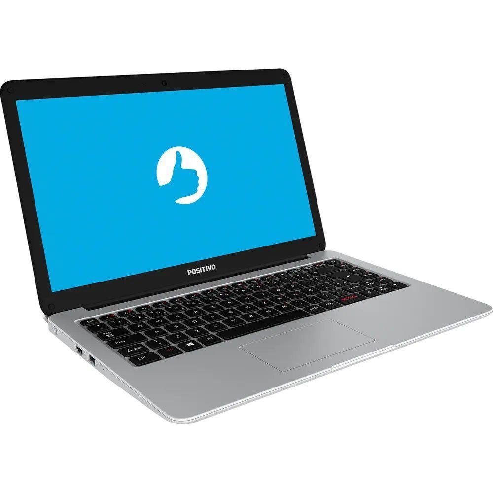 "Notebook Positivo Motion C41tai Intel Celeron Memória 4gb Ddr4 Hd 1tb Tela 14"" Hd Led Windows 10 Pro Prata"
