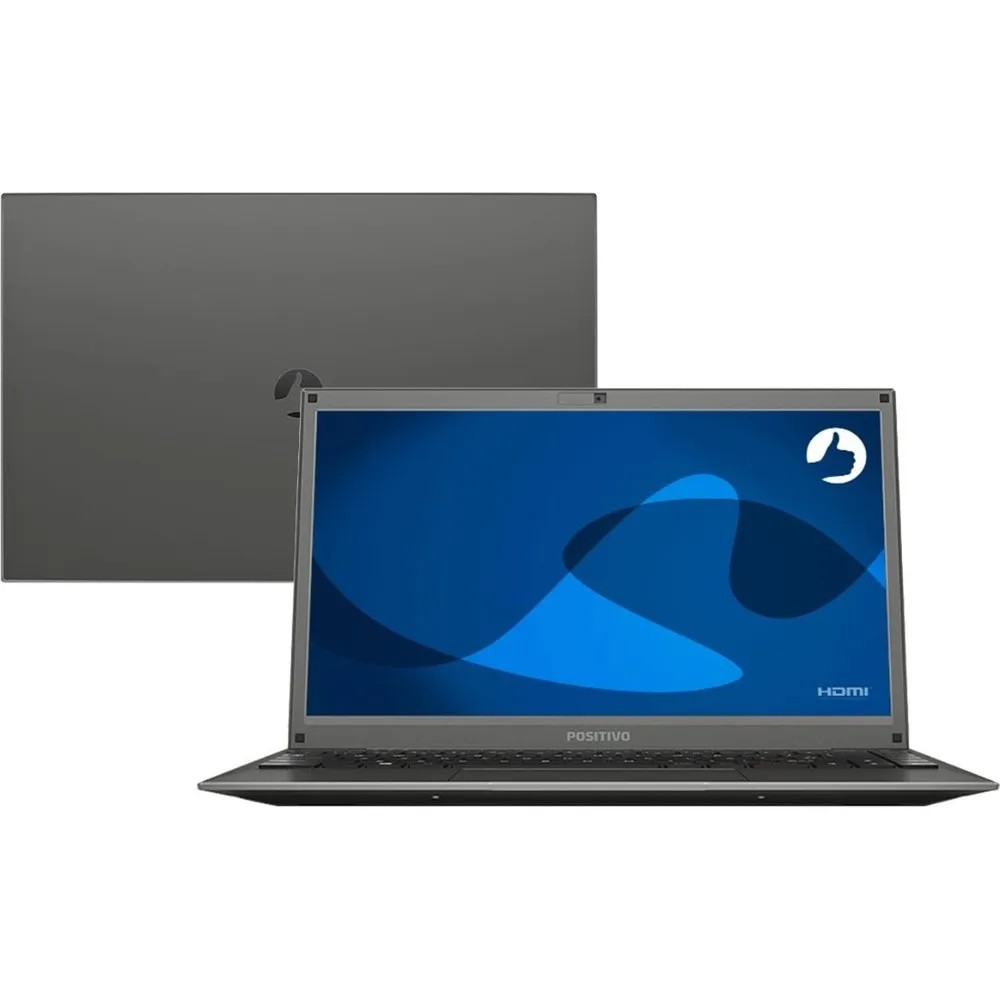 "Notebook Positivo Motion C41tci Intel Celeron Memória 4gb Ddr4 Hd 1tb Tela 14"" Hd Led Sistema Linux"