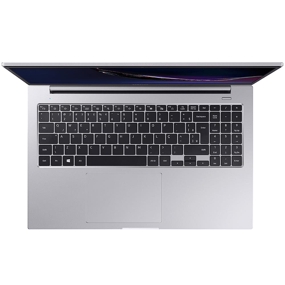 Notebook Samsung Book E30 Np550 I3-10110u Memoria 4gb Ssd 240gb Tela Led 15.6'' Full Hd Windows 10 Home Prata