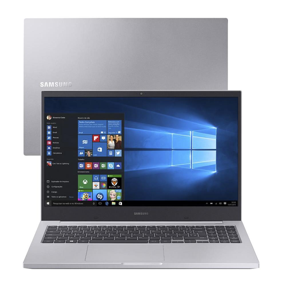 Notebook Samsung Book X20 Np550 Core I5-10210u Memoria 16gb Hd 1tb Ssd 128gb Tela 15.6' Fhd Windows 10 Home Prata