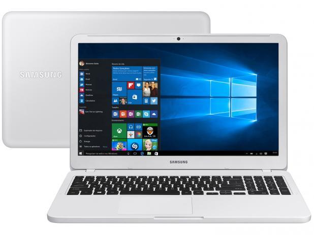 Notebook Samsung Essentials E30 Np350 Core I3 7020U Memoria 8Gb Hd Ssd 480Gb Tela 15.6' Fhd Cor Branco Win 10 Home