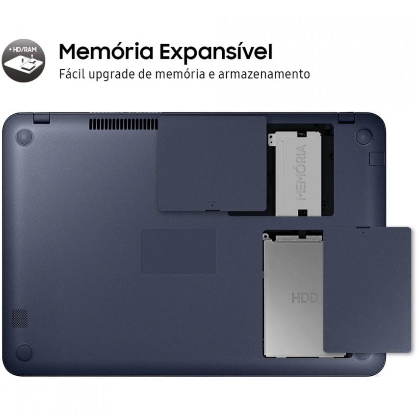 Notebook Samsung Expert X20 Np350 Core I5 8265u Memoria 4gb Ssd 240gb Tela 15.6' Fhd Cor Titanium Windows 10 Home