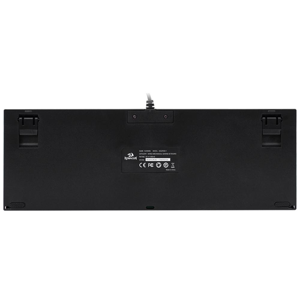 Teclado Gamer Redragon Kumara RGB PTO switch Azul K552RGB-1