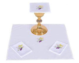 Conjunto Paños de Altar Algodón Cáliz Trigo y Uva B010