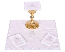 Conjunto Paños de Altar Lino Pez y Pan B009