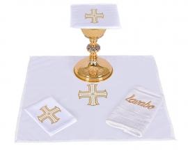 Conjunto Paños de Altar Algodón Cruz Redentora CA106