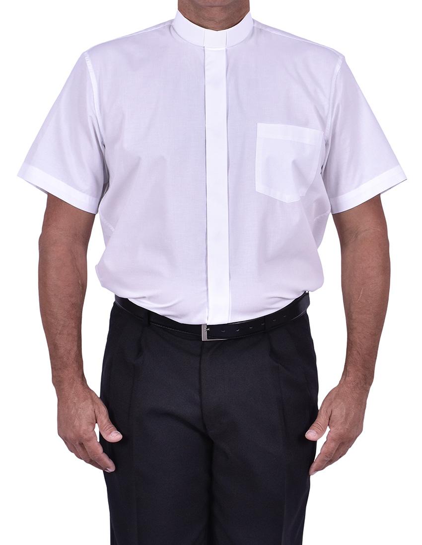 Camisa Clerical Tradicional Manga Corta Blanco CT067