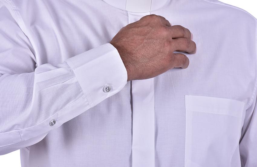 Camisa Clerical Tradicional Manga Larga Blanco CT068