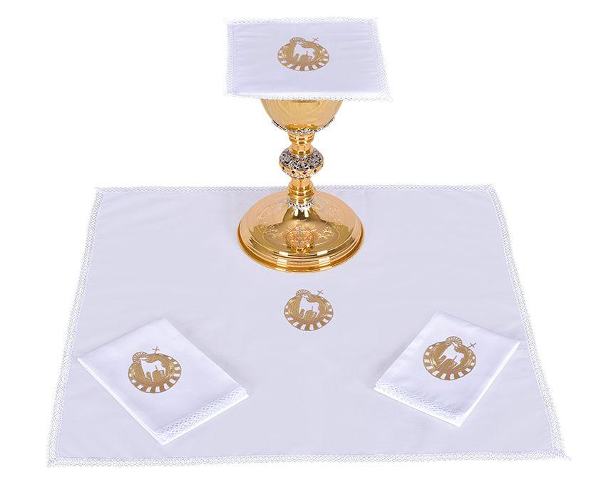 Conjunto Paños de Altar Algodón Cordero B014