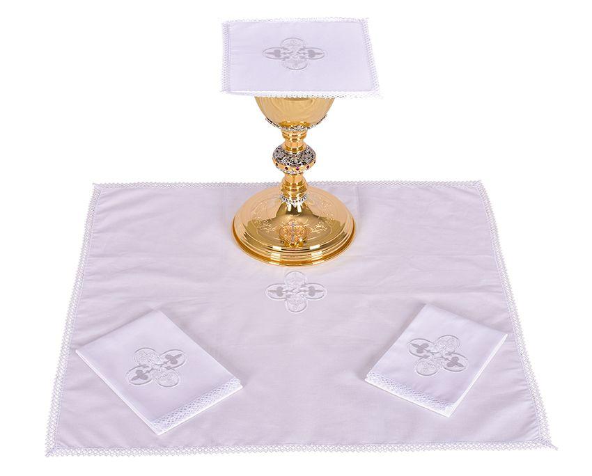 Conjunto Paños de Altar Algodón Cruz Gótica B012