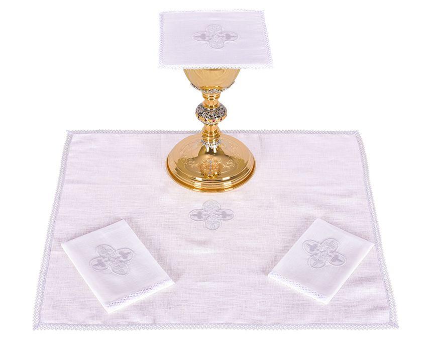 Conjunto Paños de Altar Lino Cruz Gótica B012