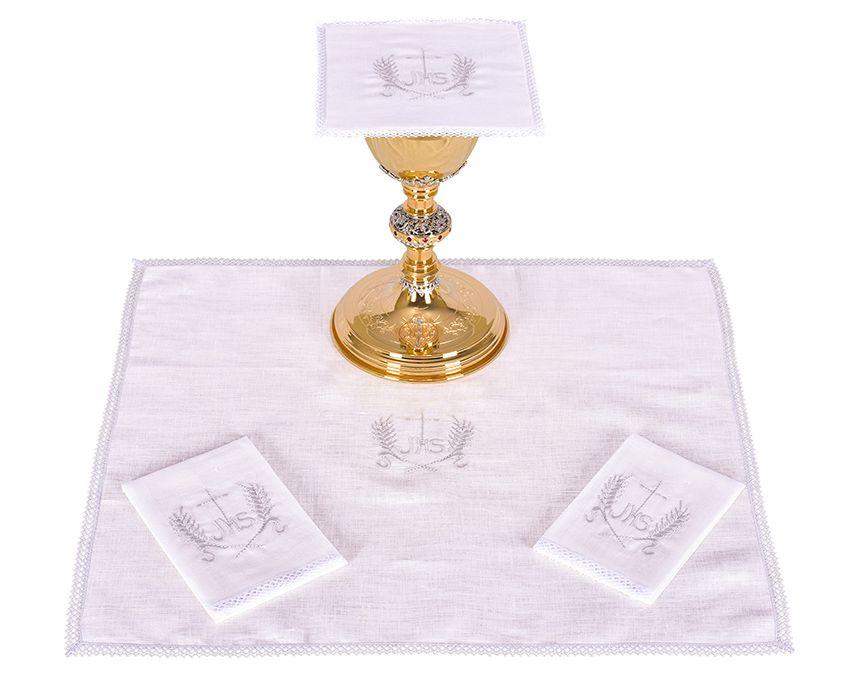Conjunto Paños de Altar Lino JHS B013
