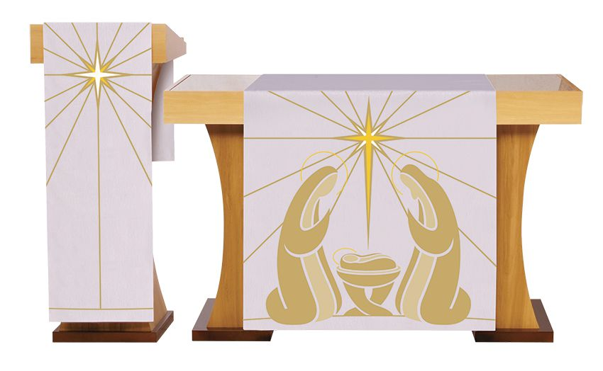 Paño de Altar y Atril  para celebración de Navedad S229 S230