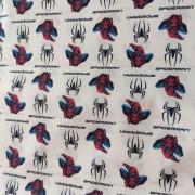 Tecido Crepe Zara Estampa Homen-Aranha