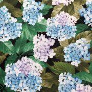 Tecido Gazar Acetinado Estampado Floral Verde/Azul