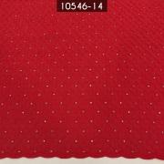Tecido Laise A1137 Bordada Vermelho