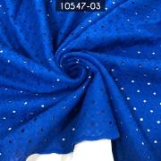 Tecido Laise Algodão Azul Royal