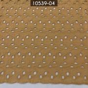 Tecido Laise Bordada 100% Algodão A1168 Bege Escuro