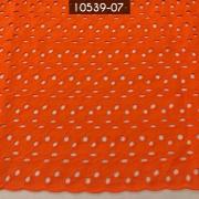 Tecido Laise Bordada 100% Algodão A1168 Laranja