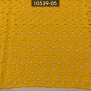 Tecido Laise Bordada 100% Algodão A1168 Mostarda