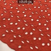 Tecido Laise Bordada 100% Algodão A1168 Telha