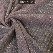 Tecido Lurex Plissado com Paetê Rosa