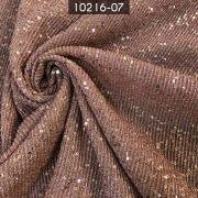 Tecido Lurex Plissado com Paetê Rosa Velho