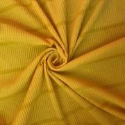 Tecido Malha Cotele Canelada 96%Poliéster 4%Elastano Amarelo