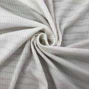 Tecido Malha Cotele Canelada 96%Poliéster 4%Elastano Branco