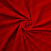 Tecido Malha Cotele Canelada 96%Poliéster 4%Elastano Vermelho