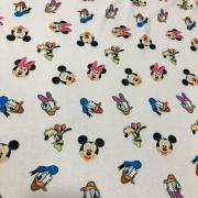 Tecido Malha Poly Flex Estampada 96%Poliéster 4%Elastano Turma do Mickey