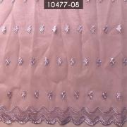 Tecido Organza Bordada infantil 10477 Lavanda