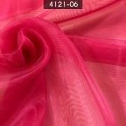 Tecido Organza Cristal 100% Poliéster Pink