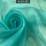 Tecido Organza Cristal 100% Poliéster Verde Jade