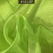 Tecido Organza Cristal 100% Poliéster Verde Maça