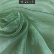 Tecido Organza Cristal 100% Poliéster Verde Musgo