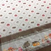 Tecido Plástico Térmico Estampa Doces