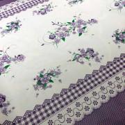 Tecido Plástico Térmico Estampa Floral Lilás