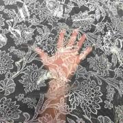 Tecido Plástico Térmico Transparente Estampa Floral